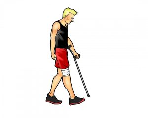 when can you walk after ACL surgery_1 crutch