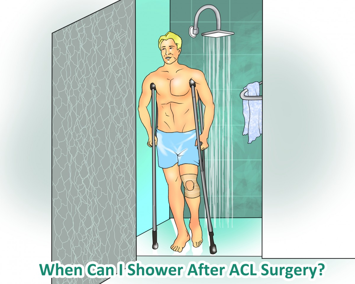 When can I shower after ACL surgery